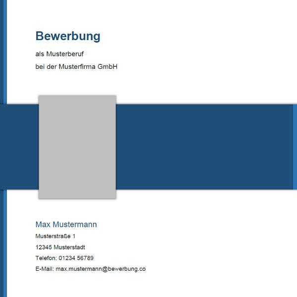 Deckblatt für die Bewerbung   Muster und Vorlagen 2018