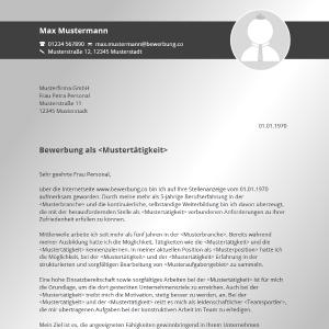 Vorlage / Muster: Bewerbungsanschreiben 2016