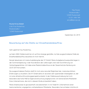 Muster Bewerbungsschreiben Bewerbungsanschreiben 2019