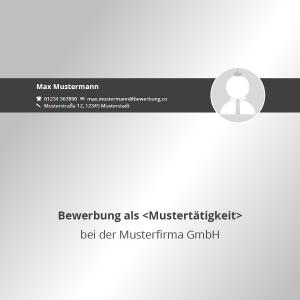 Vorlage / Muster: Bewerbungsdeckblatt 2016