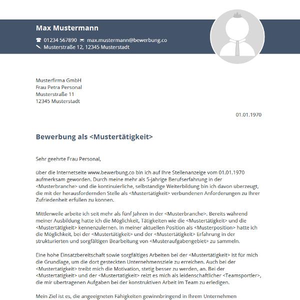 Vorlage / Muster: Bewerbungsschreiben 2016