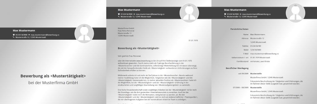 Anschreiben für Bewerbung als PDF amp Druckvorlage