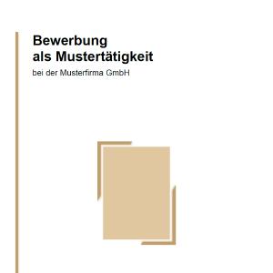 Vorlage / Muster: Bewerbung Deckblatt Vorlage