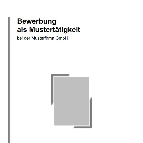 Vorlage / Muster: Bewerbungsdeckblatt Muster