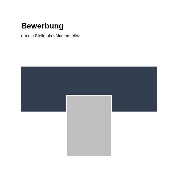 Vorlage / Muster: Bewerbungsdeckblatt Vorlage