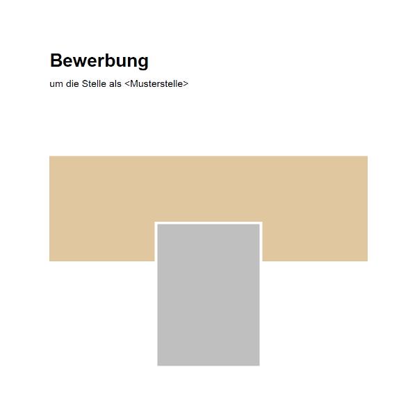 Vorlage / Muster: Deckblatt Bewerbung