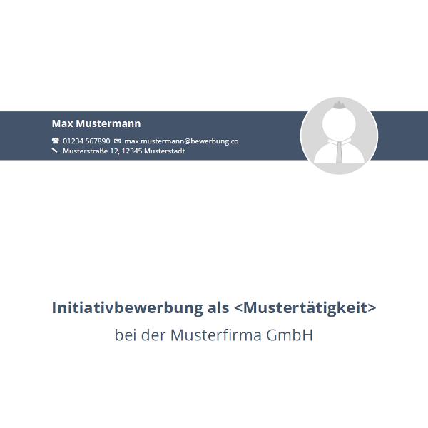 Vorlage / Muster: Deckblatt 2016 (Initiativbewerbung)