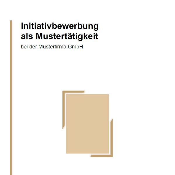 Vorlage / Muster: Deckblatt-Vorlage (Initiativbewerbung)