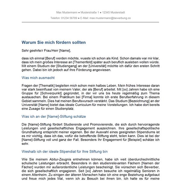 Motivationsschreiben: Kostenlose Muster & Vorlagen - Bewerbung.co