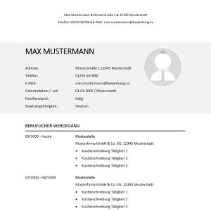 Muster / Vorlage: Muster-Lebenslauf 36