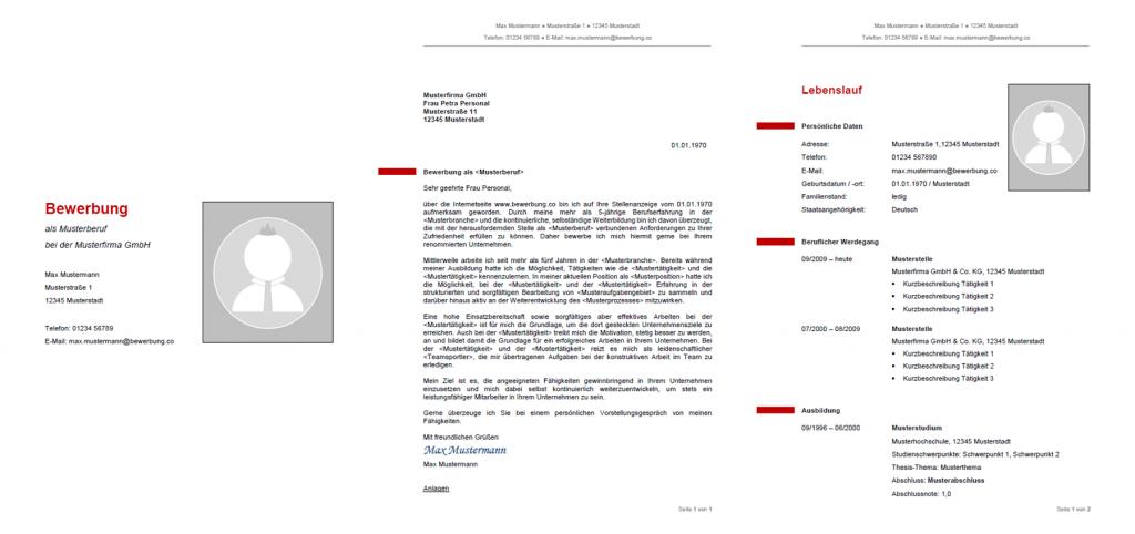 Muster & Vorlagen kostenlos herunterladen - Bewerbung