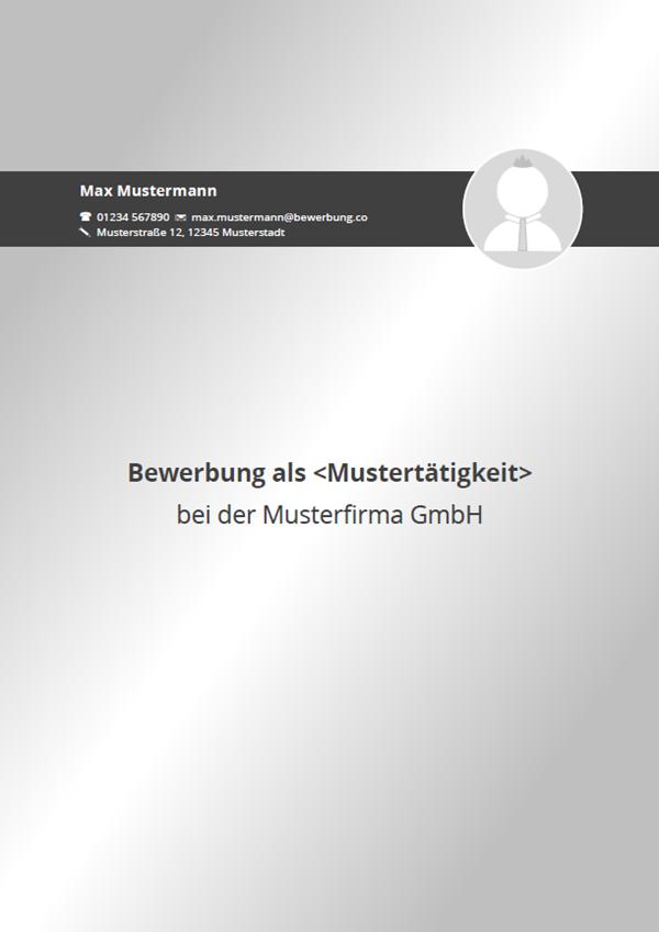 vorlage muster bewerbungsdeckblatt 2016 - Bewerbungs Deckblatt Vorlage