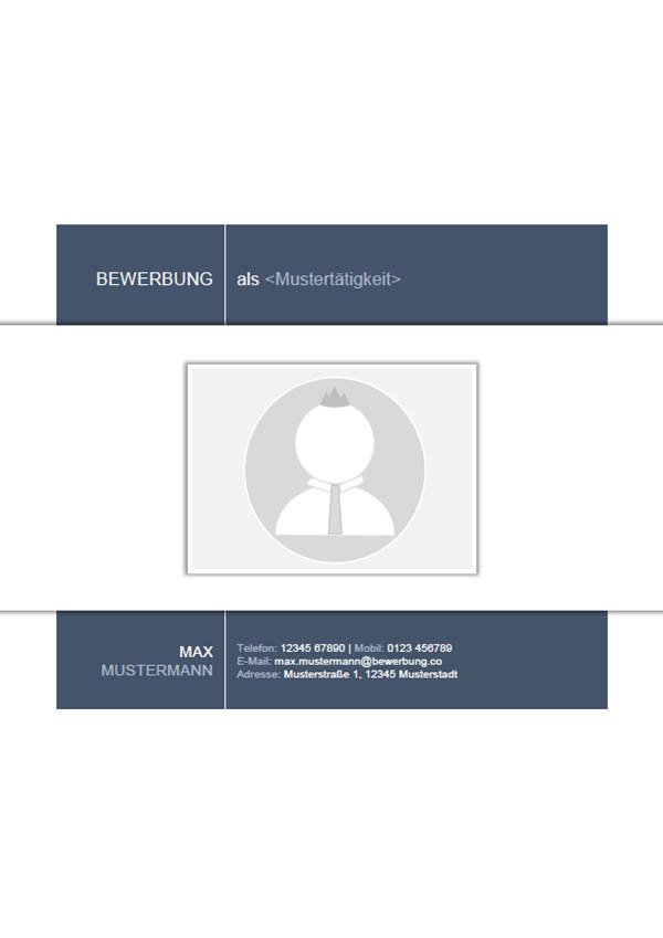 Vorlage / Muster: Bewerbungsdeckblatt 30