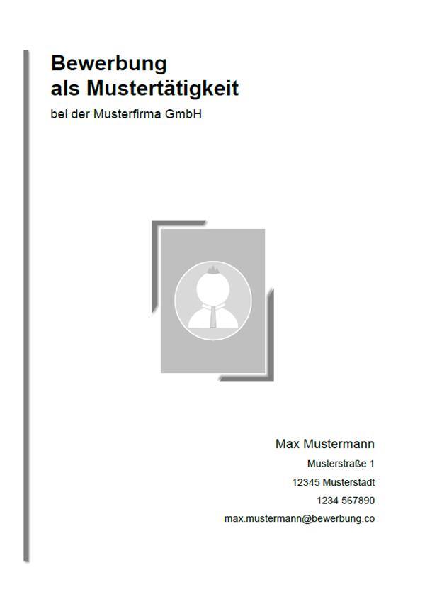 vorlage muster bewerbungsdeckblatt muster - Bewerbung Deckblatt Ohne Foto
