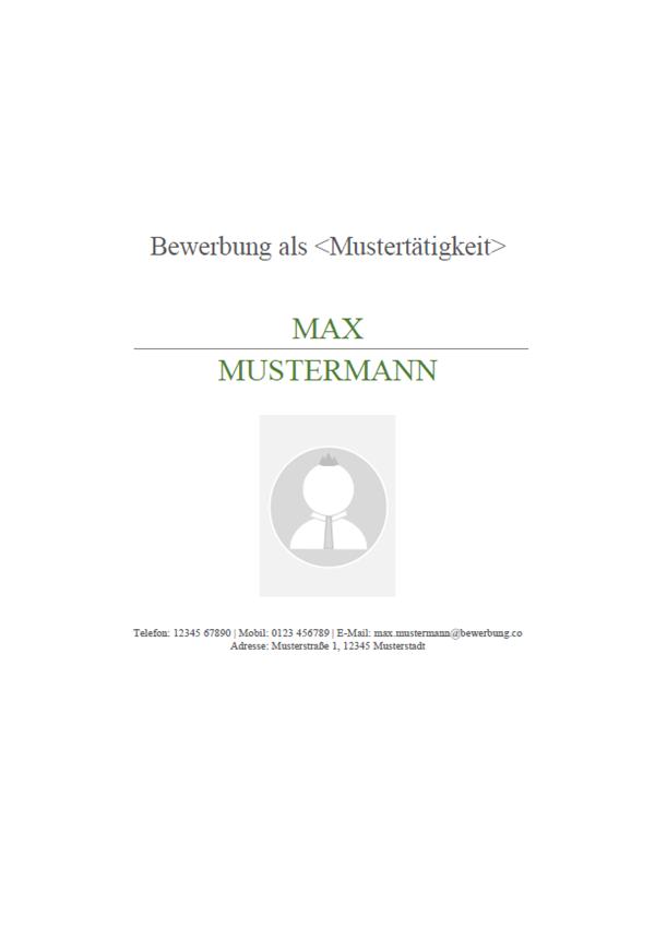 Deckblatt Für Die Bewerbung Muster Und Vorlagen 2019