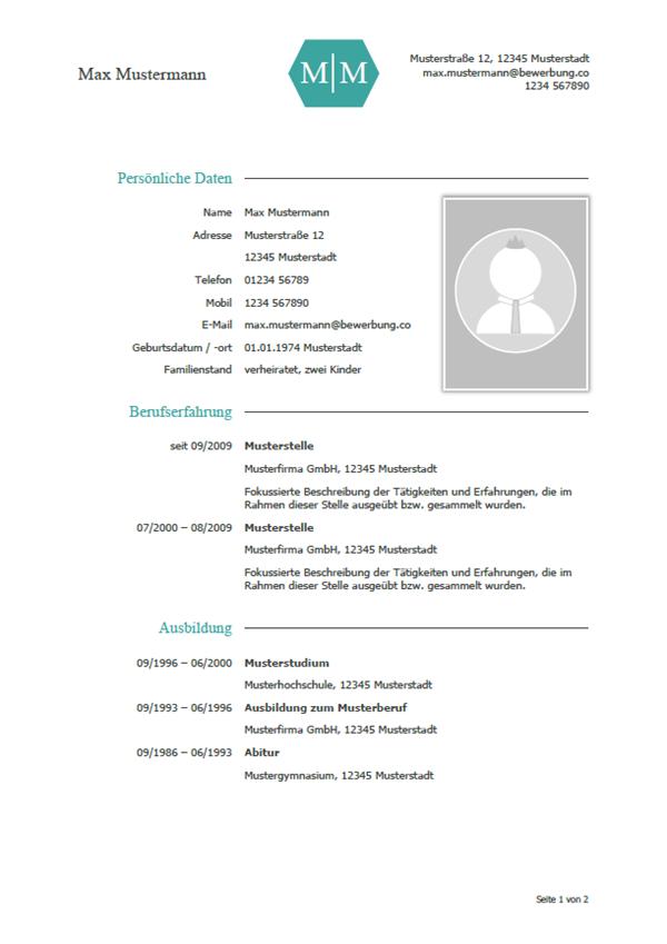 Lebenslauf Muster & Vorlagen für die Bewerbung 2018