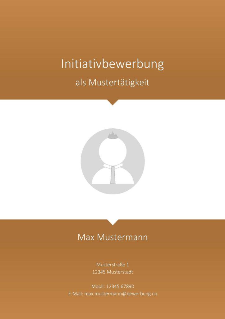 Vorlage / Muster: Deckblatt Initiativbewerbung 2017