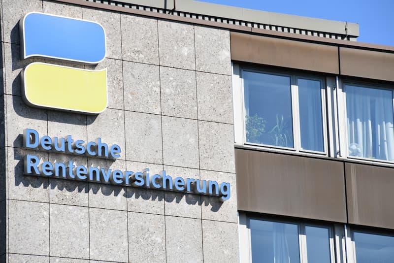 Ein Gebäude der deutschen Rentenversicherung, es ist ein Teil der Sozialversicherung