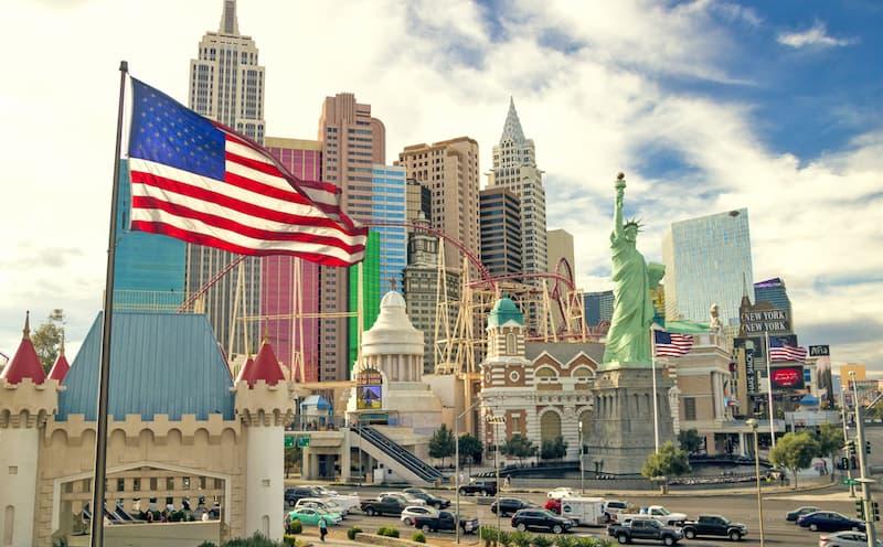 Ansicht von Las Vegas, hier braucht es bei der Bewerbung einen amerikanischen Lebenslauf